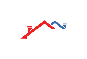 abstract concept real estate design template logo