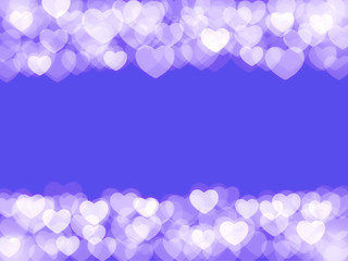 scattered blurred hearts for Valentines Day background
