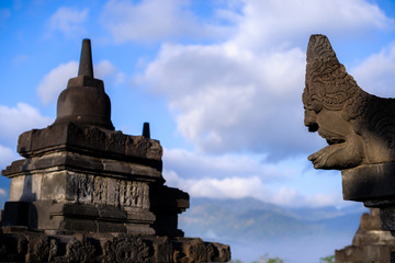 Borobudur sunrise, UNESCO World Heritage site, Java, Indonesia