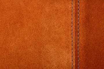 Foto auf Leinwand Leder brown leather texture closeup