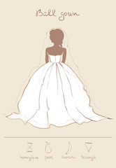 Wedding dress in ball gown style