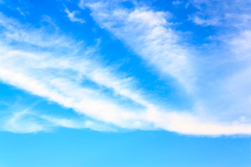 blue sky and clouds on sunny day