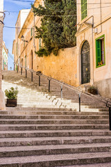 Wall Mural - Treppe Stufen Altstadt Mediterran