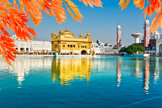Golden Temple in Amritsar, India.