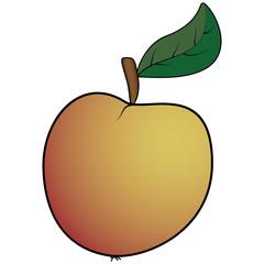 Apple leaf abstract