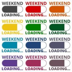 Weekend Loading icons set