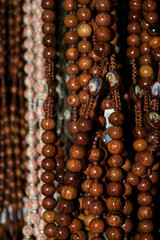 wooden rosary beads brown Length