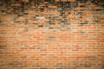 Orange grunge brick wall texture background