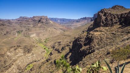 Canyon-Landschaft im Hinterland der Kanareninsel Gran Canaria