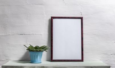 Empty frame for an inscription