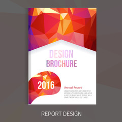 Vector brochure cover design templates with abstract geometric linear polygon background for your business visual identity.