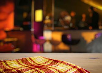 kitchen towel on table
