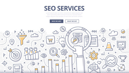 SEO Services Doodle Concept