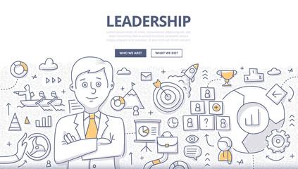 Leadership Doodle Concept