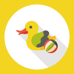 animal toy duck flat icon