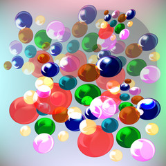 abstract, balls, colored