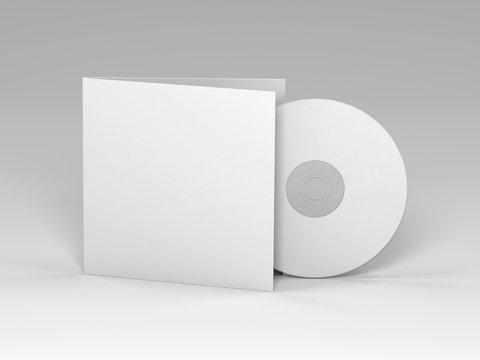 Blank cd 3d render (mockup design)