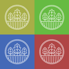 Vector agriculture and organic farm line logos.