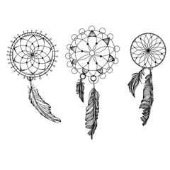 The dreamcatcher is then decorated with sacred items such as feathers and beads.Dream catcher