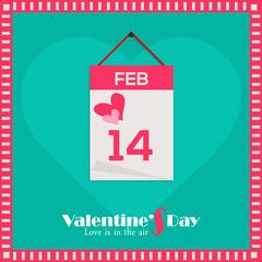 Calendar with 14th Feb date