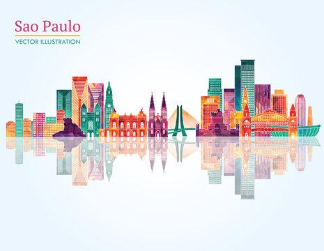 Sao Paulo skyline. Vector illustration