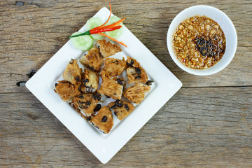 Thai snack fried Taro and Black Beans