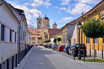 Street in Alba Iulia, Romania