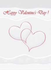 Happy Valentines Day! e-card. Love message with text. Romantic greetings for your loved one. Beautiful cute Valentine card that you can send free vial email to your Valentine.