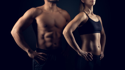 Perfectly shaped female and male upper bodies