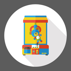 crane machine flat icon