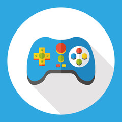 Game consoles flat icon
