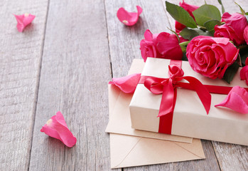 Roses and gift