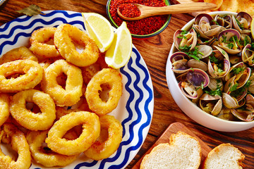 Tapas calamari romana squid rings seafood Spain