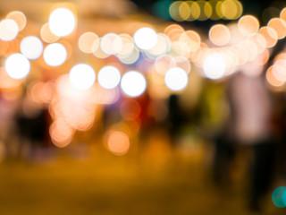 Defocus street festival light background Fotomurales
