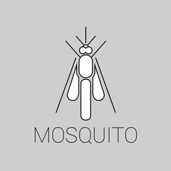 Vector abstract mosquito icon or a logo symbol