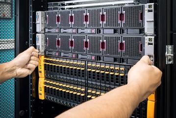 men maintenance network attached storage (NAS)