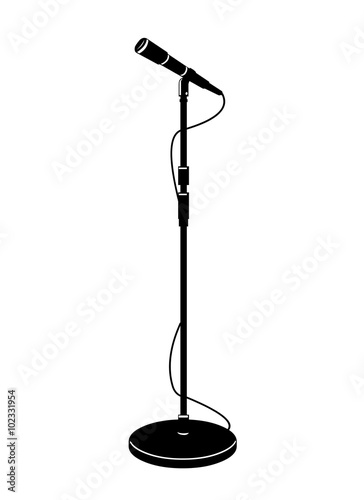 """A icon vector illustration of a stage microphone in ..."