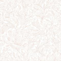 Paisley Flowers Design Elements Seamless Pattern