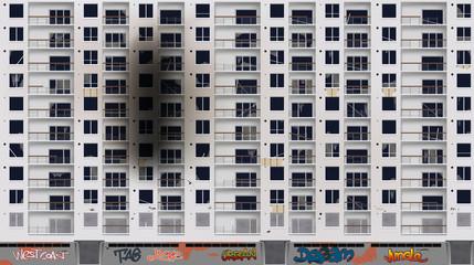 Facade d'immeuble désaffecté