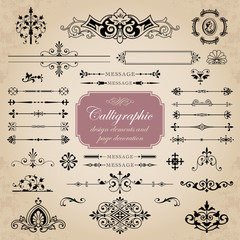 Calligraphic elements and page decoration for design