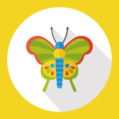 insect butterfly flat icon