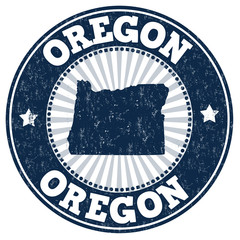 Oregon grunge stamp