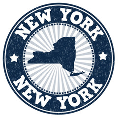 New York grunge stamp