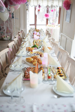 birthday or baby shower decor table setting