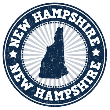 New Hampshire grunge stamp