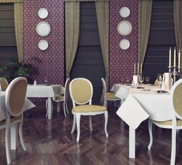 modern restaurant. 3d rendering concept