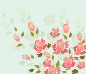 Rose flower background. Vector