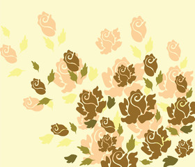 Rose flower background. Vector