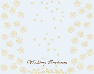 Classic invitation card with floral ornament. Vector