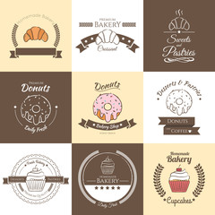 Bakery logo badges set 2